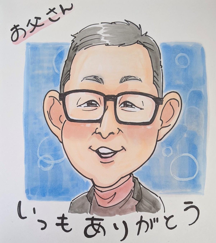明日!6/6(日)父の日似顔絵イベント